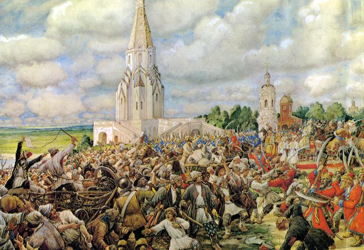 Медный бунт. 1662 г. Художник Э. Лисснер. 1938 г.